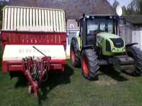Krone turbo 2800 i Claas Arion 410